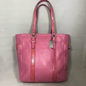 Coach Gallery lunch tote pink